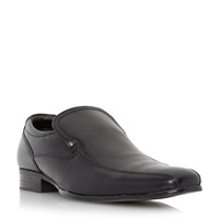 Howick Recipe Leather Tramline Slip On Loafers Black