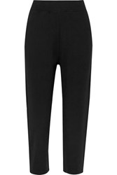 Varley Catherine Cropped Stretch Jersey Track Pants Black