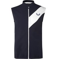 Castore Joseph Slim Fit Stretch Shell And Mesh Gilet Navy