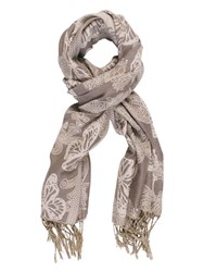 Chesca Butterfly Printed Scarf Grey