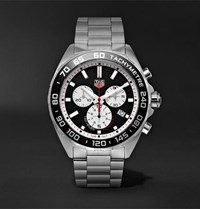 Tag Heuer Formula 1 Quartz Chronograph 43Mm Stainless Steel Watch Silver