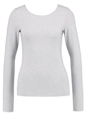 Noisy May Nmmance Long Sleeved Top Light Grey Melange Mottled Light Grey