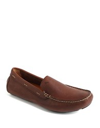Tommy Bahama Pagota Leather Driving Moccasins Dark Brown