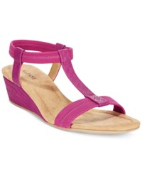 Alfani Women's Voyage Wedge Sandals Only At Macy's Women's Shoes Fuchsia