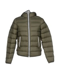 M.Grifoni Denim Down Jackets Military Green
