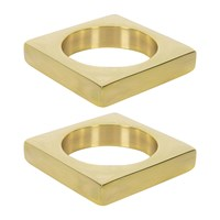 Sir Madam Brass Napkin Rings Set Of 2