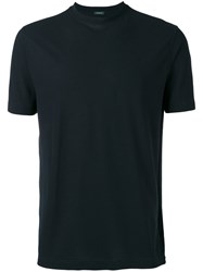Zanone Classic T Shirt Men Cotton 54 Blue