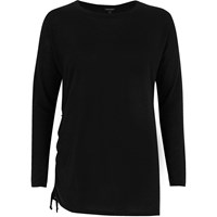 River Island Womens Black Ruched Drawstring Side Top