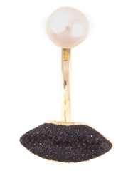 Delfina Delettrez Single Lip Earring Black