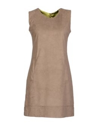 Brebis Noir Short Dresses Dove Grey