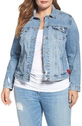 Lucky Brand Plus Size Women's Embroidered Denim Jacket