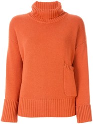 Lamberto Losani Roll Neck Jumper Orange
