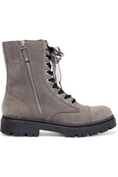 Dkny Roux Suede Ankle Boots Gray