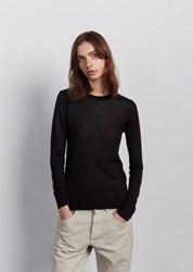 6397 Shrunken Wool Crewneck Black