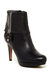 Adrienne Vittadini Poppers Zip Cuff Ankle Bootie Black