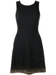 Versace Jeans Sleeveless Beaded Dress Black