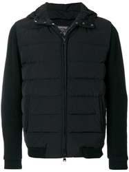 Woolrich Padded Fitted Jacket Polyamide Polyester Duck Feathers L Black