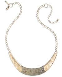 Inc International Concepts Gold Tone Wire Wrapped Collar Necklace Only At Macy's