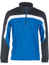 Galvin Green Men's Bart Half Zip Gore Windstopper Blue