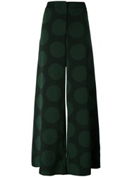 Mcq By Alexander Mcqueen Flared Palazzo Pants Black