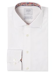 Smyth And Gibson Micro Dobby Liberty Print Slim Fit Shirt White