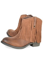Alice And You Fringed Ankle Boot Tan