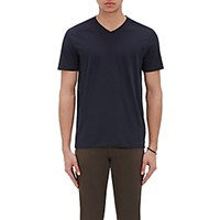Vince. Men's Pima Cotton V Neck T Shirt Navy