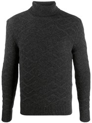 Tagliatore Knitted Roll Neck Jumper Grey