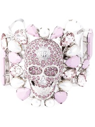 Philipp Plein 'Fields' Bracelet Pink And Purple