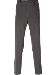 Corneliani Back Zip Pocket Trousers Grey