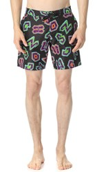 Moschino Historic Stretch Swim Trunks Black