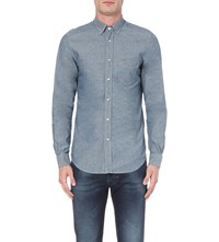 Diesel D Carry Slim Fit Chambray Shirt Denim