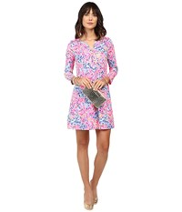 Lilly Pulitzer Banyan Dress Multi Coco Coral Crab Women's Dress Pink