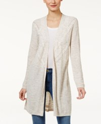 Styleandco. Style Co. Open Front Duster Cardigan Only At Macy's Natural Heather Combo