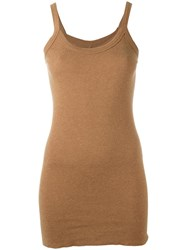 Rick Owens Lilies Long Knit Tank Top Nude Neutrals