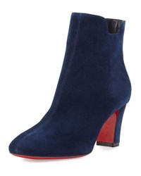 Christian Louboutin Tiagadaboot Suede 70Mm Red Sole Bootie Night