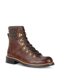 Andrew Marc New York Chester Wool Cuff Boots Burnt Brown