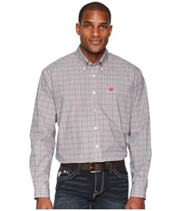 Cinch Long Sleeve Plain Weave Plaid White Clothing