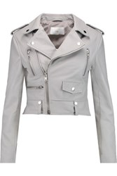 W118 By Walter Baker Hanna Leather Biker Jacket Gray