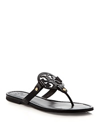 Tory Burch Flat Thong Sandals Miller Black