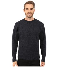 Pendleton Shetland Crew Sweater Indigo Black Men's Sweater Blue