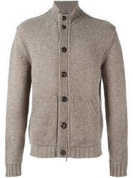 Ermenegildo Zegna Button Up Cardigan Nude And Neutrals