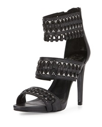 Vince Camuto Fancle Beaded Wide Strap Sandal Black