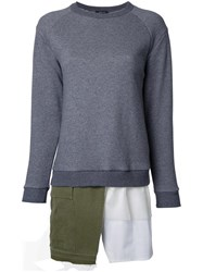 Undercover Layered Asymmetric Sweatshirt Grey