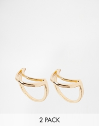 Designsix Colby Crescent Ring Gold