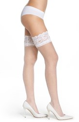 Nordstrom Women's Thigh High Stay Up Stockings White