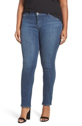 Lucky Brand Plus Size Women's 'Emma' Stretch Straight Leg Jeans Salty Water