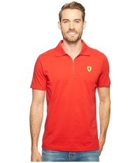 Puma Sf Polo 2 Rosso Corsa Men's Short Sleeve Pullover Red