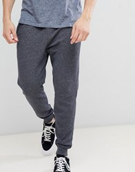 Hollister Core Icon Logo Cuffed Jogger In Washed Black Marl