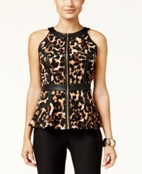 Thalia Sodi Animal Print Peplum Top Only At Macy's Leopard